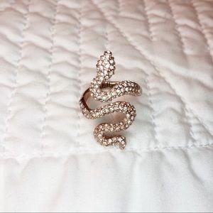 Stella & Dot Sidewinder Snake Ring, Adjustable